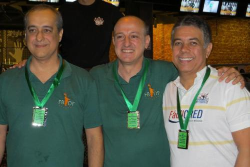 All Events 2.ª divisão: Enio Cursino (2.º), Bob Lanna (1.º) e Márcio Bandeira (3.º)